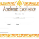 Academic Excellence Certificate