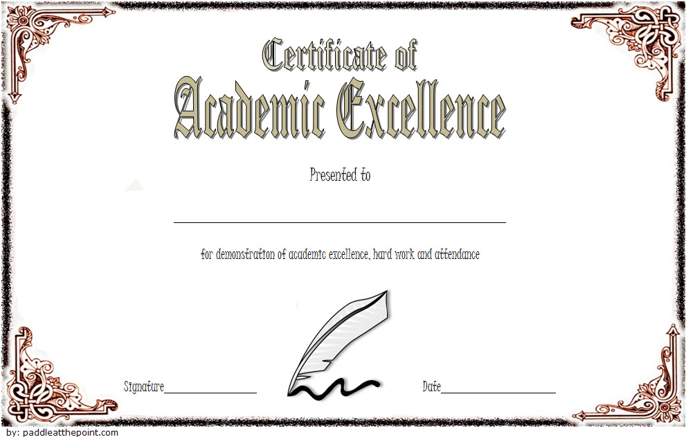 Certificate Of Acedemic Excellence With Old Style 3