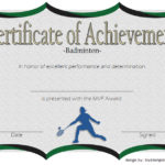 Certificate Of Achievement For Badminton 2