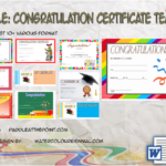 Congratulation Certificate Template By Paddle