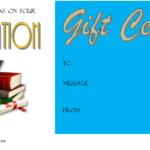 Congratulation Gift Certificate Template 2