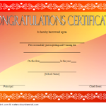 Congratulation Winner Certificate Template 2
