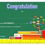 Congratulations Certificate Template For Preschool Diploma