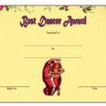 Dance Award Certificate Template 1