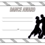 Dance Award Certificate Template 3