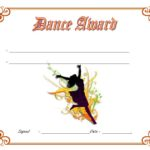 Dance Award Certificate Template 4
