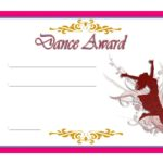 Dance Award Certificate Template 5