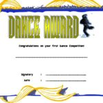 Dance Award Certificate Template 7