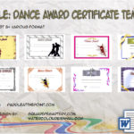 Dance Award Certificate Template