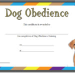 Dog Obedience Certificate Template 1
