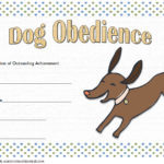Dog Obedience Certificate Template