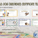 Dog Obedience Certificate Templates By Paddle