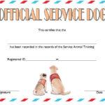 Dog Training Certificate Template 2