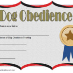 Dog Training Certificate Template
