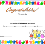 Editable Pre K Graduation Certificate Template 1