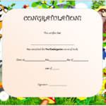 Editable Pre K Graduation Certificate Template