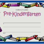 Editable Pre K Graduation Certificate Template 3