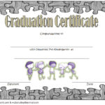 Editable Pre K Graduation Certificate Template 5