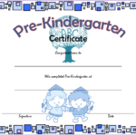 Editable Pre K Graduation Certificate Template 6