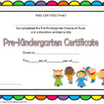 Editable Pre K Graduation Certificate Template 7