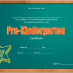 Editable Pre K Graduation Certificate Template 8