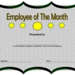 Employee of The Month Certificate Templates
