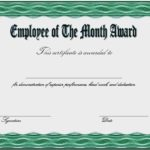 Employee Of The Month Certificate Template 6