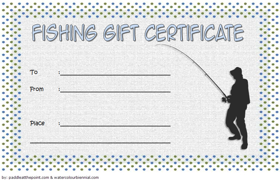 Fishing Gift Certificate Template 1