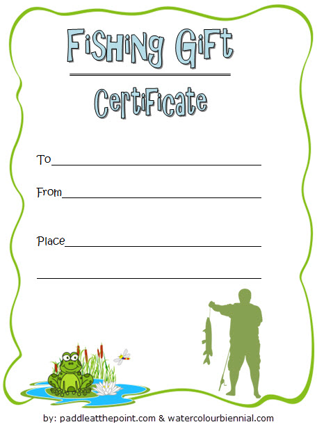 Fishing Gift Certificate Template 2