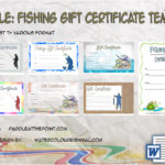 Fishing Gift Certificate Templates By Paddle
