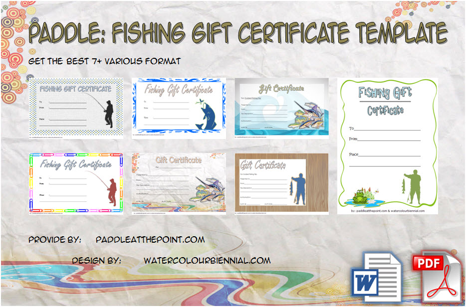Fishing Gift Certificate Template 7 Inspirational Designs