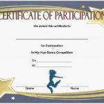 Hip Hop Certificate Templates