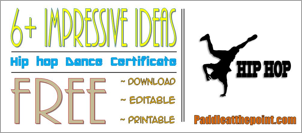 hip hop certificate template, hip hop dance certificate template, hip hop dance certificate format