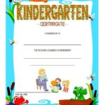 Kindergarten Completion Certificate Template 1 B