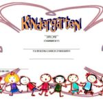 Kindergarten Completion Certificate Template