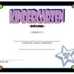 Kindergarten Completion Certificate Template 2