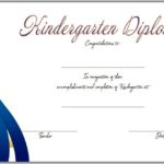 Kindergarten Completion Certificate Template 3