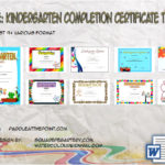 Kindergarten Completion Certificate Templates By Paddle
