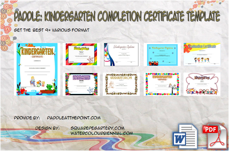 Download 9+ Best Ideas of Kindergarten Completion Certificate Templates, Diploma, Graduation, End of Year, free printable, editable for students!