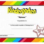 Kindergarten Diploma Certificate Template 1