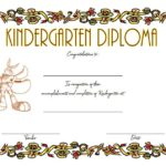 Kindergarten Diploma Certificate Template 4