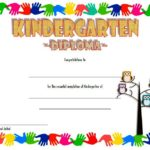 Kindergarten Diploma Certificate Template 6