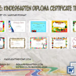 Kindergarten Diploma Certificate Templates By Paddle