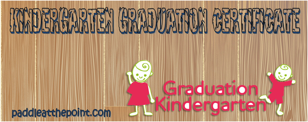 Kindergarten Graduation Certificate Template Free Download By Paddle