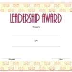 Leadership Award Certificate Template