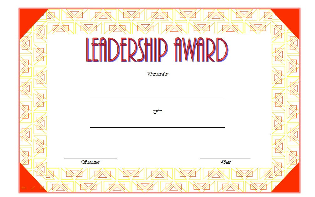 Leadership Award Certificate Template 1