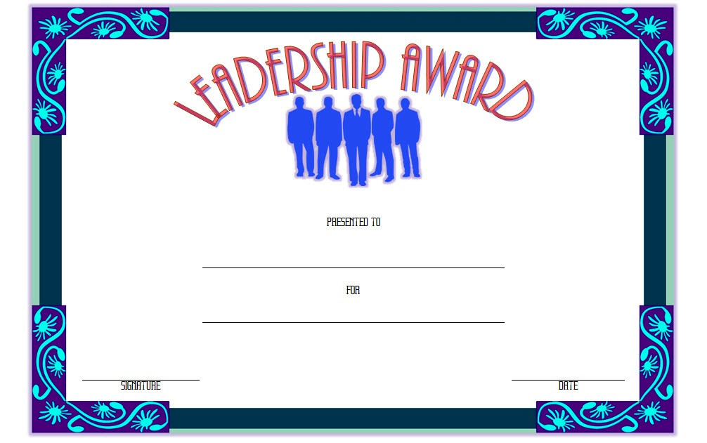 Leadership Award Certificate Template 2