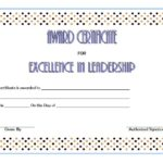 Leadership Award Certificate Template 4