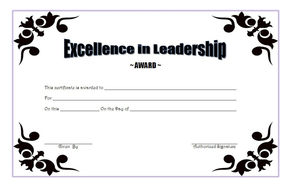 Leadership Award Certificate Template 5