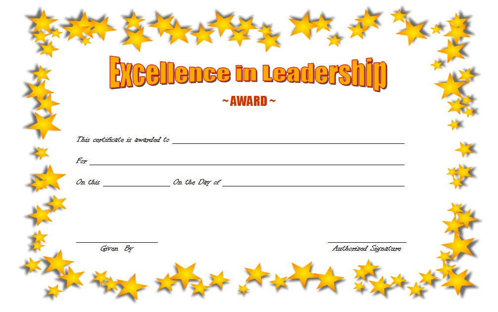 Leadership Award Certificate Template 6